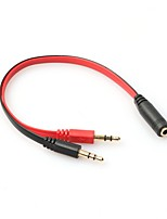 cheap -Top Quality Hot Sale 3.5mm AUX Audio Mic Splitter Cable Earphone Headphone Adapter 1 Female To 2 Male