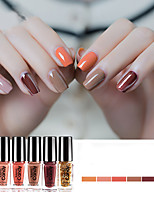 cheap -Nail Polish UV Gel  5 ml 6 pcs Stylish Soak off Long Lasting  School / Daily Wear / Date Stylish Fashionable Design