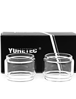 cheap -YUHETEC Fat Glass tube for OBS Crius2  Single Coil Atomizer 2PCS