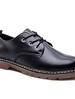 cheap -Men's Comfort Shoes PU Fall & Winter Oxfords Black
