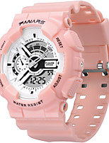 cheap -SYNOKE Digital Watch Digital Sporty Stylish Silicone 30 m Water Resistant / Waterproof Calendar / date / day LCD Digital Outdoor Fashion - Black White / Gold White