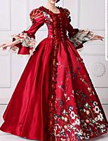 cheap -Dance Costumes Dresses Women's Performance Terylene Lace / Pattern / Print Long Sleeve Dress