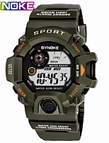 cheap -SYNOKE Digital Watch Digital Sporty Stylish Silicone 30 m Water Resistant / Waterproof Calendar / date / day LCD Digital Outdoor Fashion - Black Black / Yellow Black / Blue