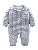 cheap -Baby Girls' Basic Solid Colored Long Sleeve Romper White