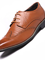 cheap -Men's Bullock Shoes Faux Leather Spring & Summer / Fall & Winter Business / Casual Oxfords Breathable Black / Brown / Yellow