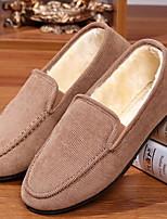 cheap -Men's Comfort Shoes PU Fall & Winter Loafers & Slip-Ons Black / Wine / Dark Blue
