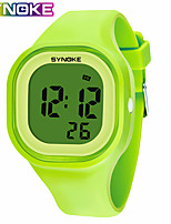 cheap -SYNOKE Digital Watch Digital Sporty Stylish Silicone 30 m Water Resistant / Waterproof Calendar / date / day LCD Digital Outdoor Fashion - Black White Yellow