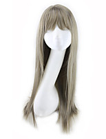 cheap -Synthetic Wig Curly Asymmetrical Wig Long Blonde Synthetic Hair 27 inch Women's Best Quality Gray