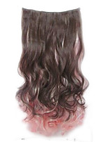 cheap -Synthetic Wig Curly Asymmetrical Wig Long Light Brown Black / Pink Synthetic Hair 27 inch Women's Best Quality Black
