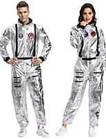 cheap -NASA Cosplay Costume Adults' Men's Cosplay Halloween Halloween Festival / Holiday Spandex Polyester White / Gray Men's Women's Carnival Costumes / Leotard / Onesie