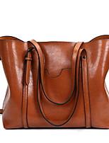 cheap -Women's Zipper PU Top Handle Bag Black / Brown / Royal Blue