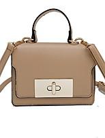 cheap -Women's Zipper PU Crossbody Bag Solid Color Black / Brown / Wine