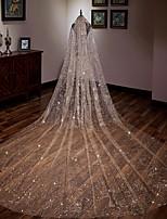 cheap -Sleeveless Tulle Wedding Women's Wrap With Paillette Ponchos