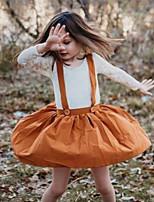 cheap -Toddler Girls' Basic Color Block Long Sleeve Clothing Set Orange