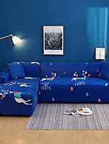 cheap -Cartoon Deer Print Dustproof All-powerful Slipcovers Stretch L Shape Sofa Cover Super Soft Fabric Couch Cover with One Free Pillow Case