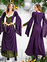cheap -Princess Retro Vintage Medieval Renaissance Dress Masquerade Women's Costume Purple Vintage Cosplay Party Halloween Long Sleeve Floor Length