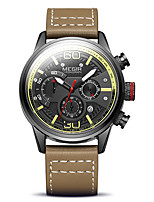 cheap -MEGIR Men's Sport Watch Quartz Sporty Stylish Genuine Leather Brown / Grey 30 m Military Calendar / date / day Chronograph Analog Outdoor Fashion - Silver+Gray Black / Brown Two Years Battery Life