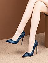 cheap -Women's Heels Stiletto Heel Pointed Toe Microfiber Classic / Minimalism Spring &  Fall Black / Orange / Dark Blue / Wedding / Party & Evening