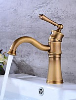 cheap -Bathroom Sink Faucet - Standard Electroplated Free Standing Single Handle One HoleBath Taps
