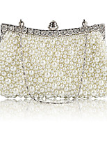 cheap -Women's Chain Polyester Evening Bag Solid Color Black / White / Champagne