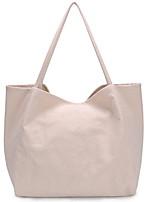 cheap -Women's Zipper Canvas Top Handle Bag Solid Color Black / White / Green