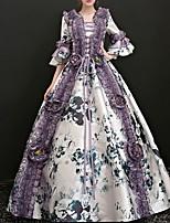 cheap -Dance Costumes Dresses Women's Performance Terylene Pattern / Print / Ruching / Bandage Half Sleeve Dress