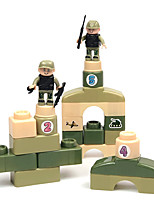 cheap -Building Blocks 36-57 pcs Warrior Military compatible Legoing Simulation All Toy Gift / Kid's