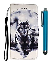 cheap -Case For Samsung Galaxy S10 / S10 Plus / S10 E Wallet / Card Holder / with Stand White Wolf PU Leather / TPU for A10s / A20s / A50(2019) / A70(2019) / A90(2019) / Note 10 Pro / A51