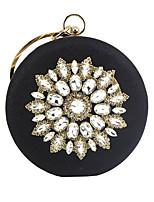 cheap -Women's Chain Alloy Evening Bag Floral Print Black / Champagne / Gold