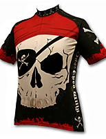 cheap -21Grams Men's Short Sleeve Cycling Jersey Winter 100% Polyester Black / Red Bike Jersey Top Mountain Bike MTB Road Bike Cycling UV Resistant Breathable Quick Dry Sports Clothing Apparel / Stretchy