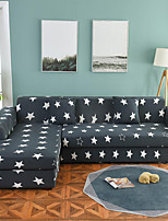 cheap -Stars Print Dustproof All-powerful Slipcovers Stretch L Shape Sofa Cover Super Soft Fabric Couch Cover with One Free Pillow Case
