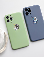 cheap -Case For Apple iPhone 11 / iPhone 11 Pro / iPhone 11 Pro Max Shockproof / Ultra-thin Back Cover / Cartoon astronaut TPU
