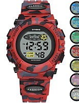 cheap -SYNOKE Digital Watch Digital Sporty Stylish Silicone 30 m Water Resistant / Waterproof Calendar / date / day LCD Digital Outdoor Fashion - Green Red Dark Blue
