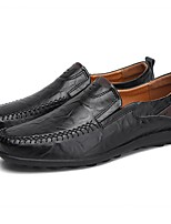 cheap -Men's Comfort Shoes Leather Fall & Winter Loafers & Slip-Ons Black / Light Brown / Dark Brown