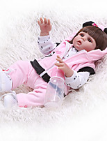 cheap -NPKCOLLECTION 20 inch Reborn Doll Baby Baby Girl Cute New Design Artificial Implantation Brown Eyes Full Body Silicone Silicone Silica Gel with Clothes and Accessories for Girls' Birthday and