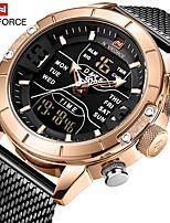 cheap -NAVIFORCE Men's Dress Watch Quartz Modern Style Stylish 30 m Water Resistant / Waterproof LCD Casual Watch Analog - Digital Luxury Fashion - Black black / gold Blue