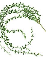 abordables -plante de simulation mur suspendu décoratif rotin vert suspendus plante plafond rotin 1 bâton