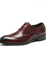 cheap -Men's Leather Shoes Leather Spring & Summer / Fall & Winter Business / Casual Oxfords Breathable Black / Yellow / Red