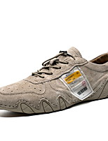 cheap -Men's Comfort Shoes Pigskin Fall & Winter Oxfords Camel / Gray