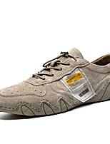 abordables -Homme Chaussures de confort Croûte de Cuir Automne hiver Oxfords Chameau / Gris