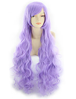 cheap -Synthetic Wig Curly Asymmetrical Wig Long Bright Purple Synthetic Hair 31 inch Women's Best Quality Purple