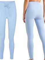 cheap -Women's High Waist Yoga Pants Drawstring Fashion Black Blue Pink Lawn Green Ice Green Running Fitness Gym Workout Tights Leggings Sport Activewear Moisture Wicking Butt Lift Tummy Control High