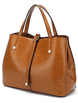 cheap -Women's Zipper PU Top Handle Bag Brown