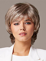 cheap -Synthetic Wig kinky Straight Asymmetrical Wig Short Blonde Synthetic Hair 11 inch Women's Best Quality Blonde
