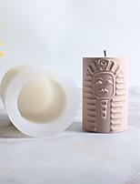 abordables -figure égyptienne bougie cylindrique moule en silicone moule bougie faisant l'outil bricolage bougie moule