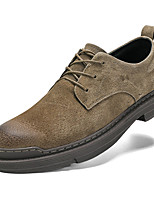 cheap -Men's Leather Shoes Cowhide Spring / Fall & Winter Classic / Vintage Oxfords Non-slipping Brown / Khaki