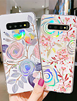 cheap -Case For Samsung scene map Samsung Galaxy S10 S10 Plus A50 A70 electroplated laser flower pattern TPU material IMD process all-inclusive mobile phone case KLD