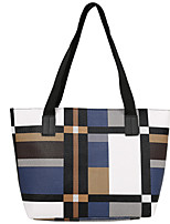 cheap -Women's Polyester / PU Top Handle Bag Color Block Orange / Blue / Gray