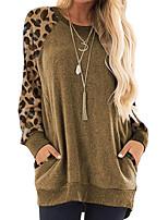 cheap -Women's Casual Sweatshirt - Leopard Purple S