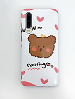cheap -Case for Huawei scene map Huawei P30 P30 Pro P20 P20 Pro Mate 30 Mate 30 Pro cartoon Bear pattern bright TPU material IMD process all-inclusive mobile phone case CKF